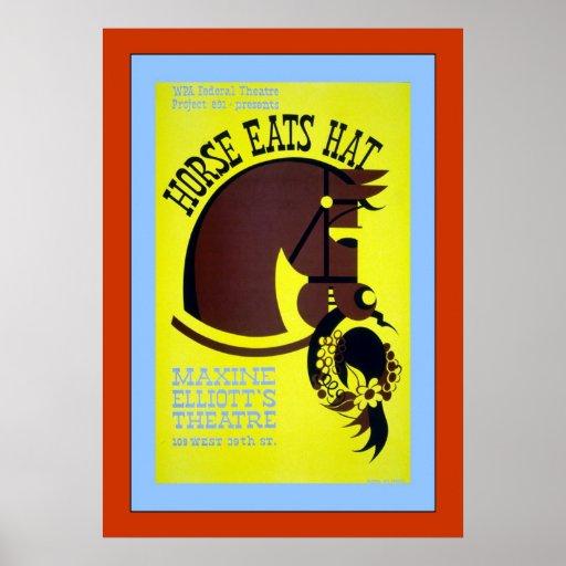 Horse Eats Hat Print