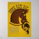 Horse Eats Hat Vintage Theatre Poster