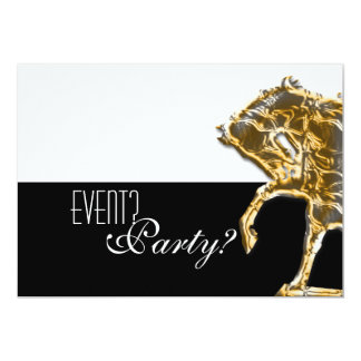 Horse elegant party card