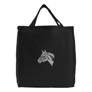 Horse Embroidered Tote Bag