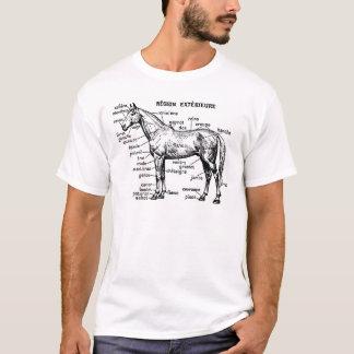 Horse exterior anatomy engraving T-Shirt