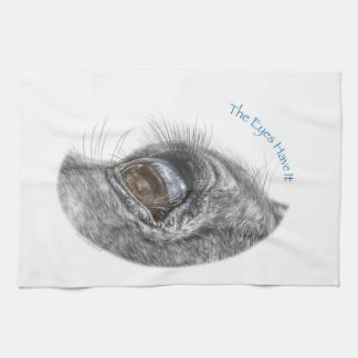 Horse Eye Reflection Closeup Tea Towel