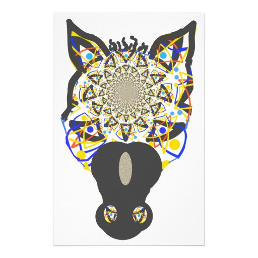Horse Face Personalized Stationery