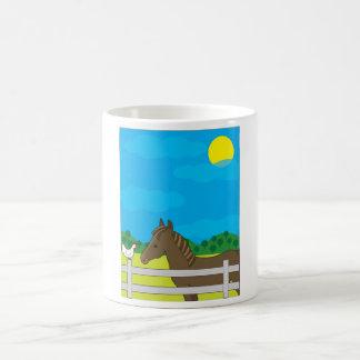 Horse Farm Basic White Mug
