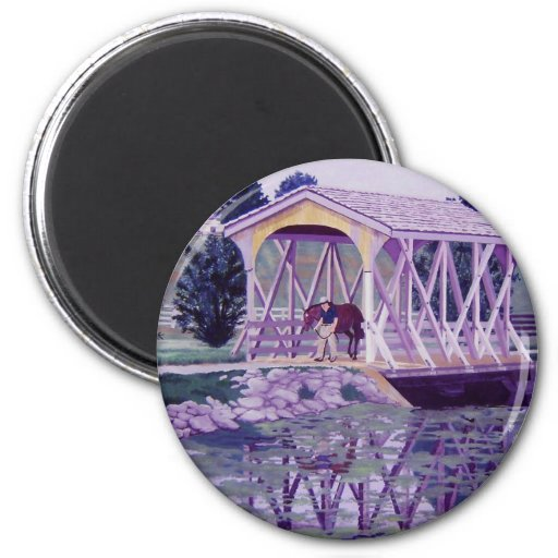 Horse Farm Bridge Magnets