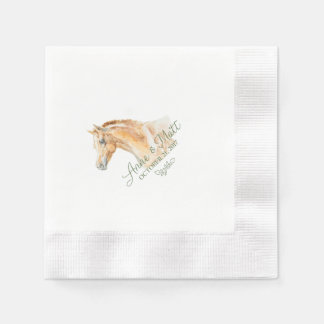 Horse Farm Wedding cocktail napkin Disposable Napkins