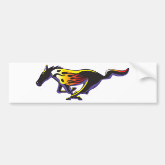 Horse Flames 2 Bumper Sticker