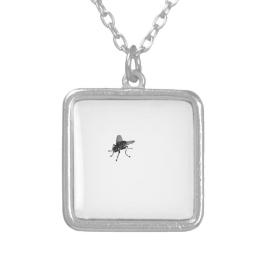 Horse fly. silver plated necklace