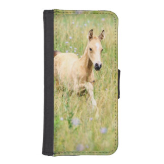 Horse Foal and Flowers Phone Wallet Case