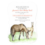 Horse Foal Baby Shower Invitation