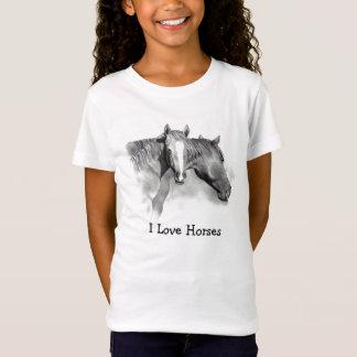 HORSE: FOAL: LOVE HORSES: PENCIL: GIRLS T-Shirt
