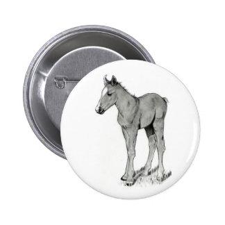 HORSE: FOAL: PENCIL ART PIN