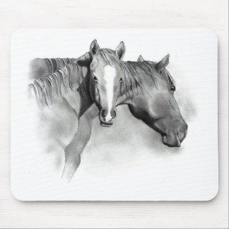 HORSE: FOAL: PENCIL ART: REALISM MOUSE PAD