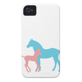 Horse & foal silhouette blackberry bold case