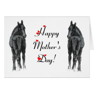 Horse Foals Mother s Day Card