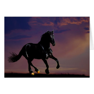 Horse galloping free card