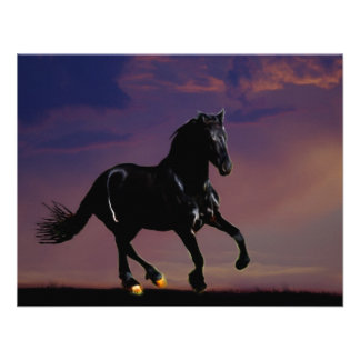 Horse galloping free personalized invitation