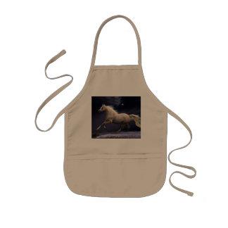 horse galloping kids apron