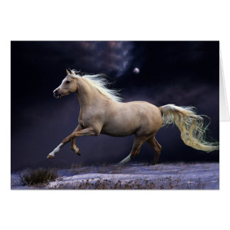 horse galloping note card