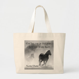 Horse Galloping Out of the Mist Jumbo Tote Bag
