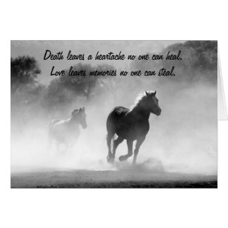 Horse Galloping Out of the Mist Silhouette Card