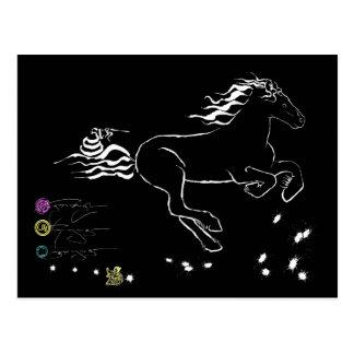 Horse galloping right (wb) [postcard] postcard