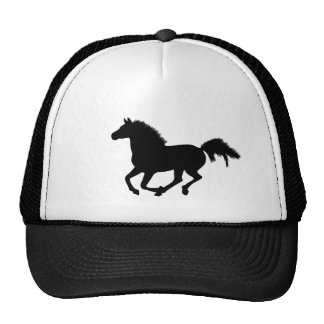 Horse galloping silhouette hat, gift idea