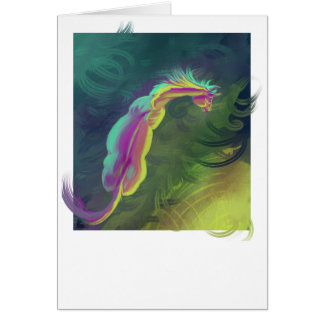 Horse gazing into the distance card