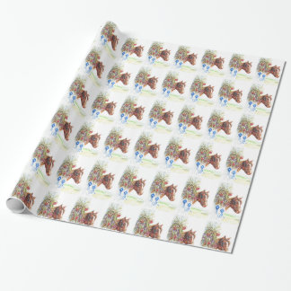 Horse Gift Wrapping Paper Stage Coach