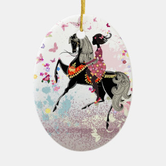 Horse Girl Christmas Ornament