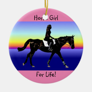 Horse Girl For Life! Christmas Ornament