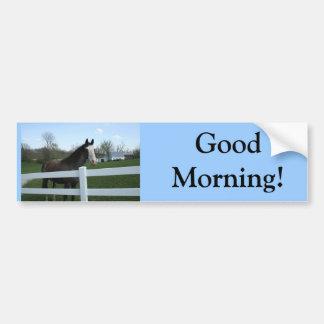 Horse, Good Morning! Bumper Sticker