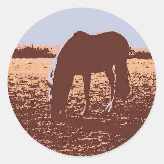 Horse Grazing Pop Art Sticker