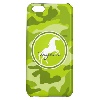 Horse green camo camouflage iPhone 5C cases