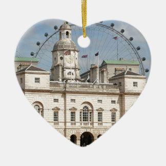 Horse Guards Parade, London, England Ceramic Heart Decoration