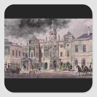 Horse Guards, Parliament Street_Engravings Square Sticker