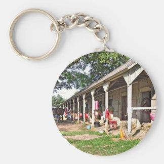 Horse Haven Barns at Saratoga Keychains