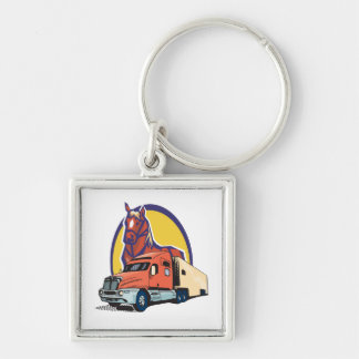 Horse Head and Semi Truck for Truck Drivers Keychains