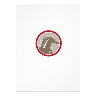Horse Head Angry Circle Retro Personalised Invite