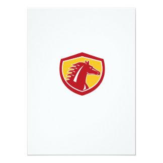 Horse Head Angry Shield Retro 14 Cm X 19 Cm Invitation Card