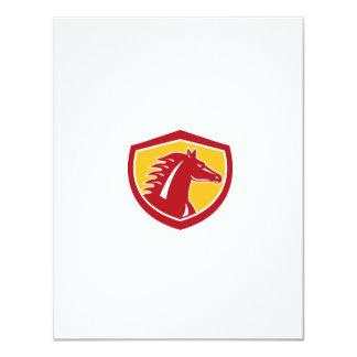 Horse Head Angry Shield Retro 11 Cm X 14 Cm Invitation Card