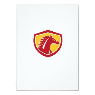 Horse Head Angry Shield Retro 11 Cm X 16 Cm Invitation Card