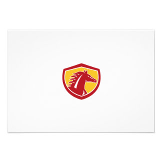 Horse Head Angry Shield Retro Personalised Announcement