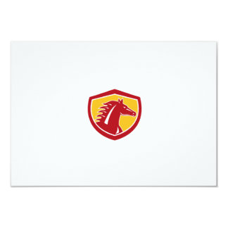 Horse Head Angry Shield Retro 9 Cm X 13 Cm Invitation Card