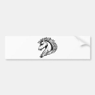Horse Head Bumper Sticker