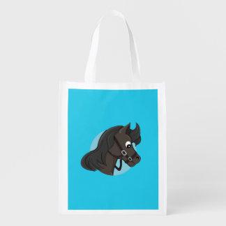 Horse head cartoon