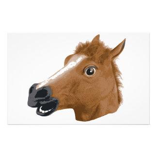Horse Head Creepy Mask Stationery