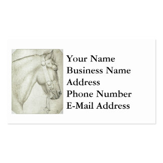 Horse Head Design Pack Of Standard Business Cards