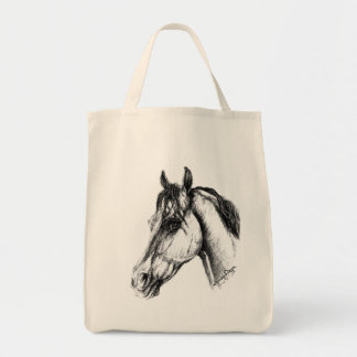 Horse Head Grocery Tote Bag