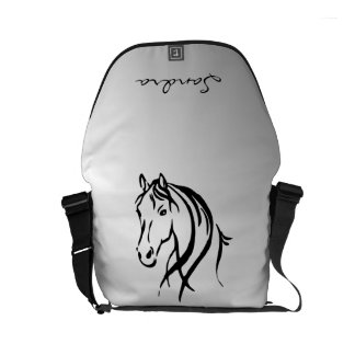 Horse Head on Silver Personal Commuter Bag